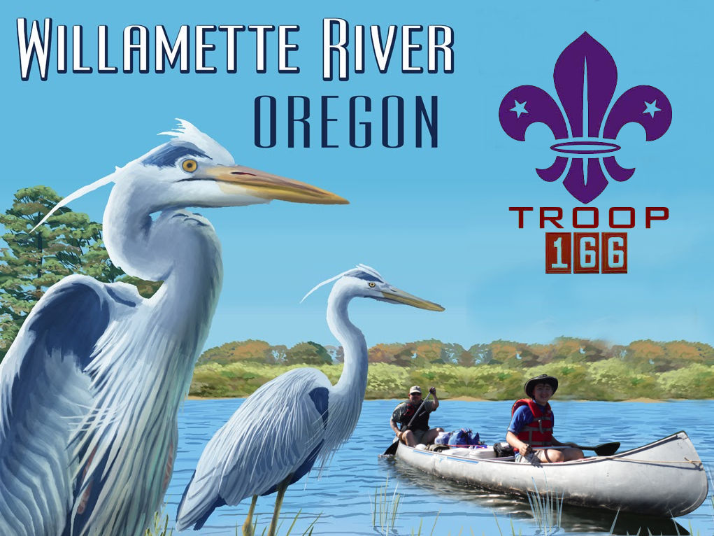 2016 Willamette River Troop 166 50 Mile Canoe Trip